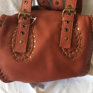 NEOT Carlos Falchi Leather double handle Hand Bag